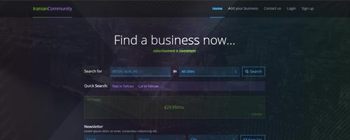 طراحی قالب IranianCommunity – Business Directory