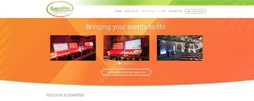 طراحی قالب Event Pro – Bringing your events to life