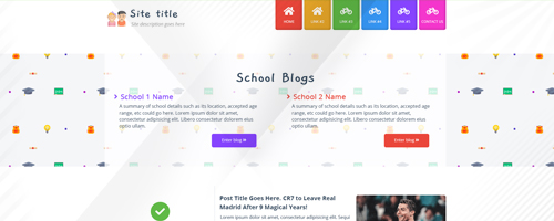 طراحی قالب The School Blogging Script