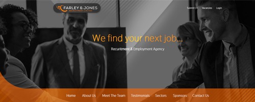 طراحی قالب Farley & Jones Recruitment Ltd