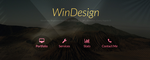 طراحی قالب WinDesign English v1 – AngularJS