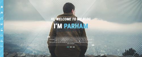 طراحی قالب Parham Personal Blog